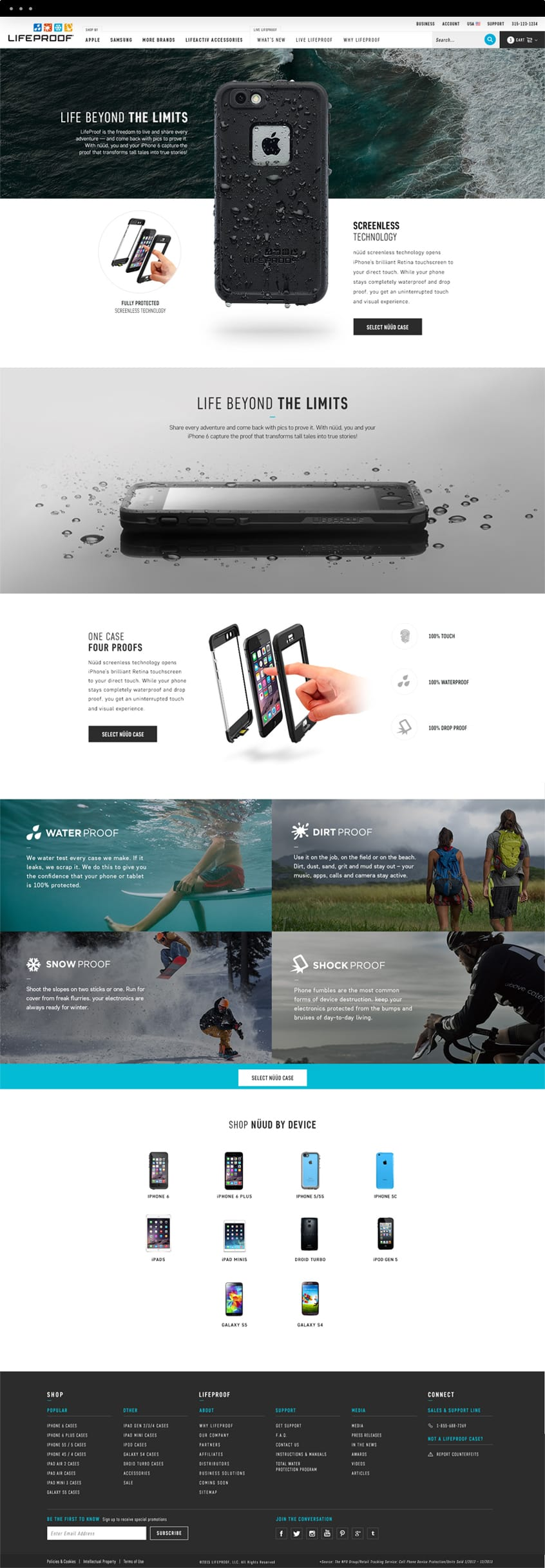 Lifeproof Series Page
