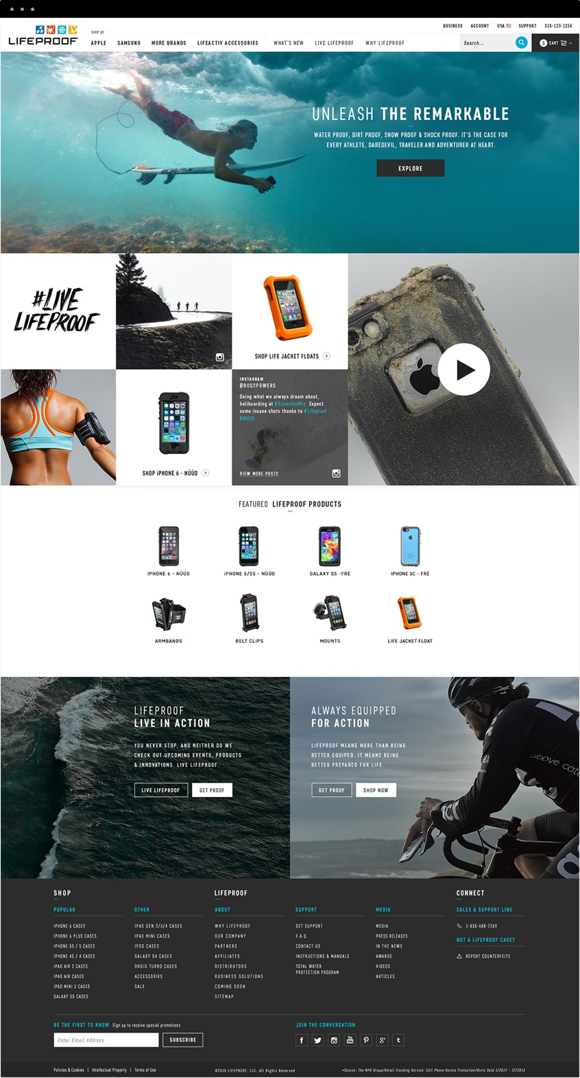 Lifeproof Homepage