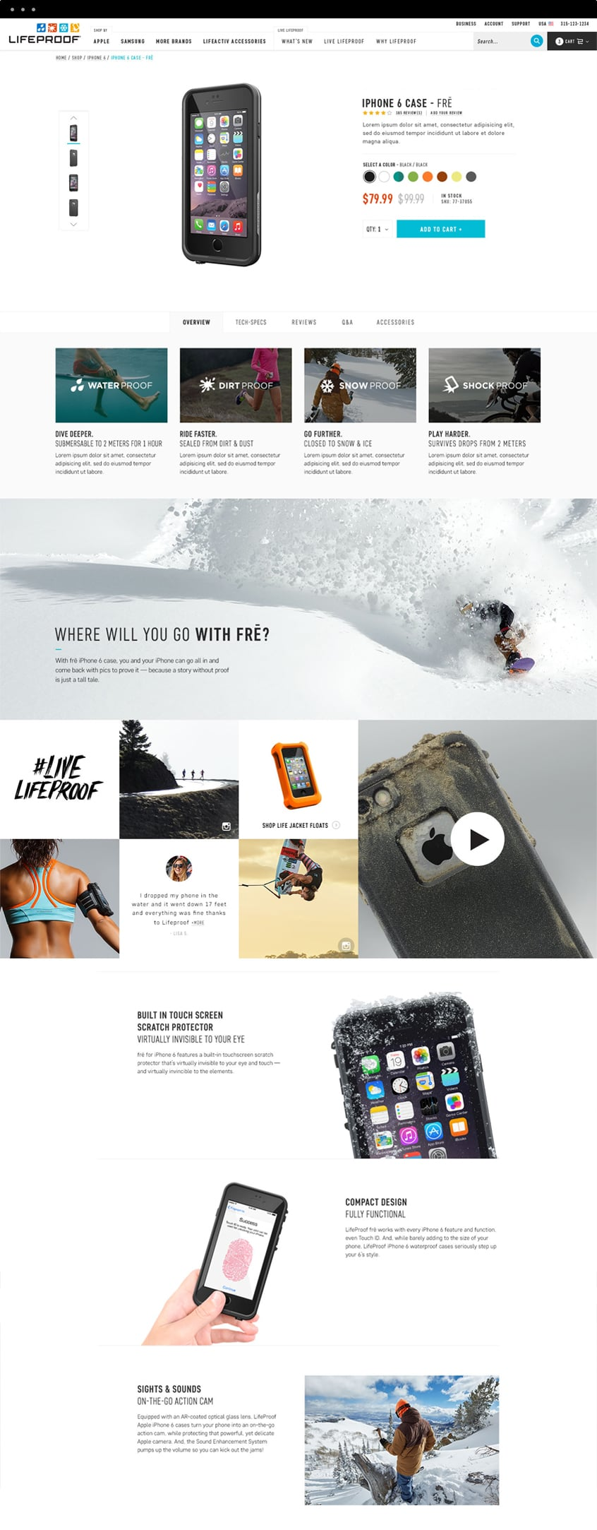 Lifeproof Product Detail Page