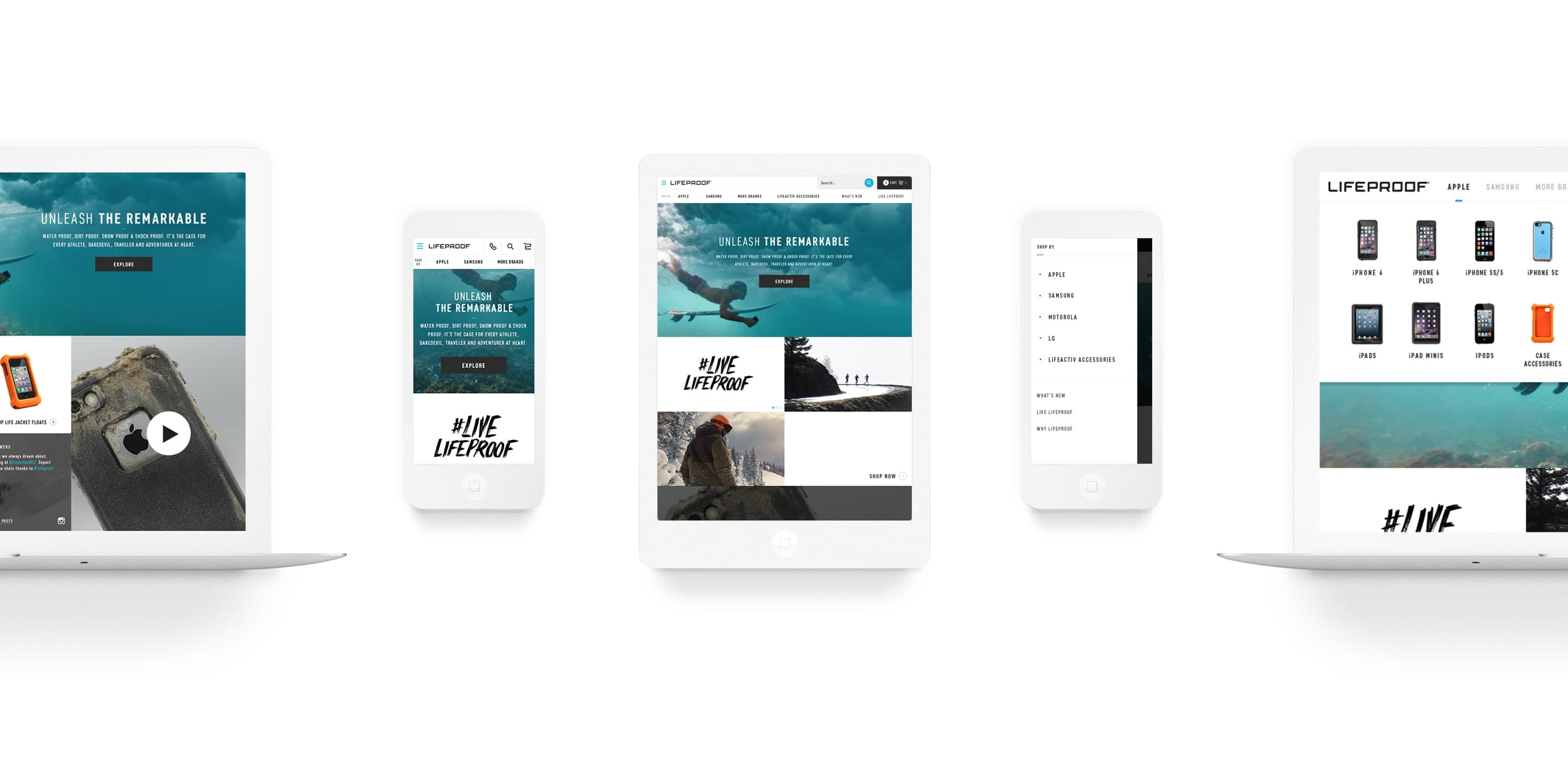 Lifeproof Responsive Webdesign